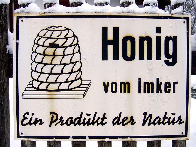 Schild Honig vom Imker